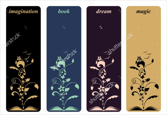 floral design bookmark template
