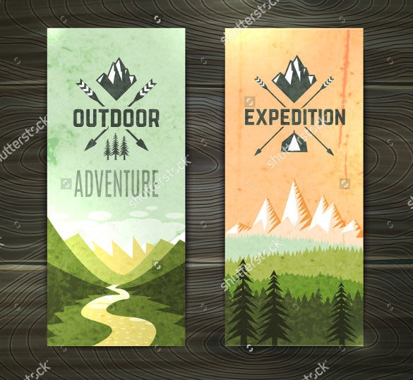 tourism theme bookmark design template