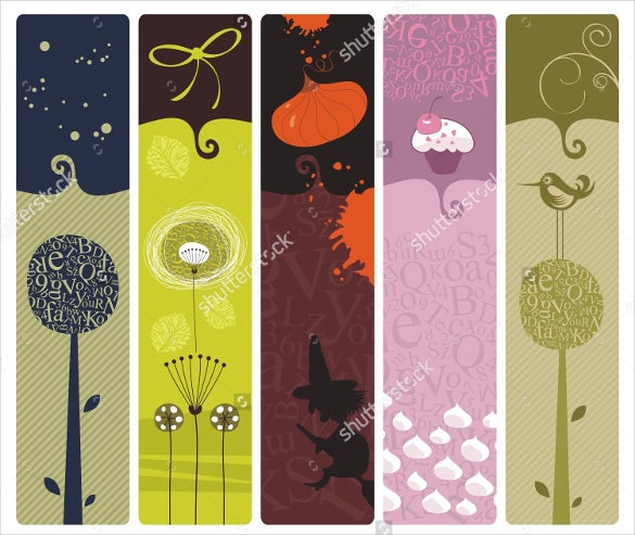theme disigned bookmarks set