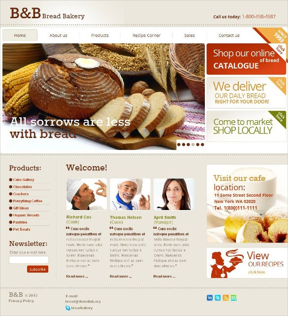 bakery moto cms html template