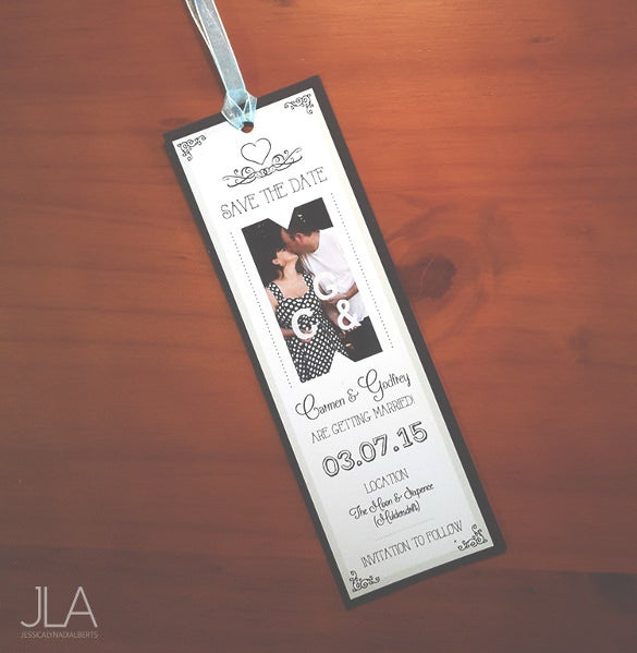 easy to edit wedding bookmark template download