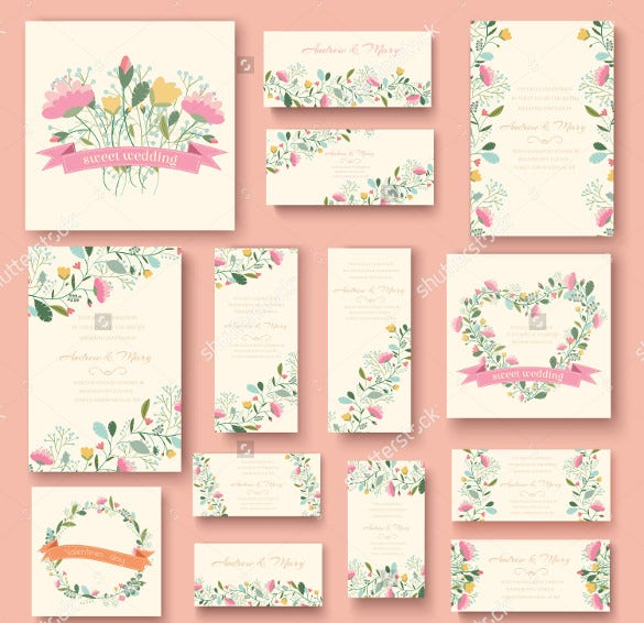 Multiple Collection Of Wedding Bookmark Templates
