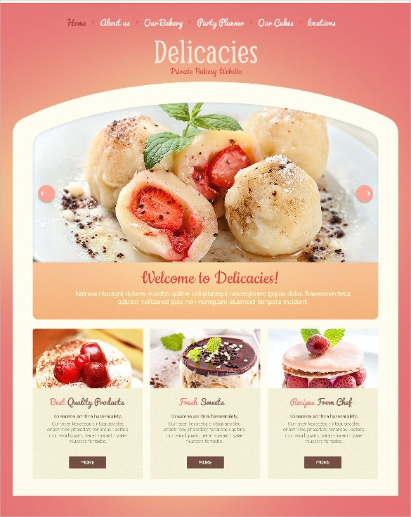 bakery website moto cms html template