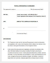 Mutual Confiedntiality Agreement