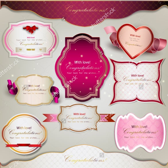 beautiful collection of wedding bookmark design templates