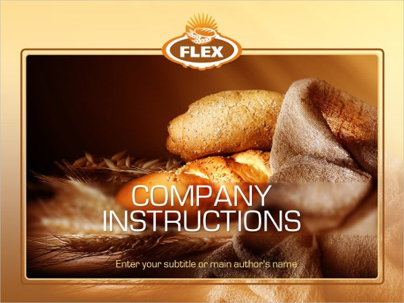 bakery powerpoint website template