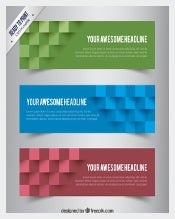 Abstract Cube Free Sample Banner Template Download