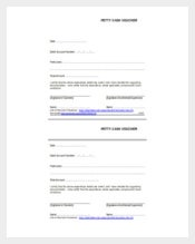 Sample Example Format Petty Cash Free PDF Template