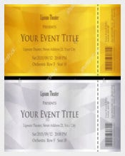 Example Modern Ticket Voucher Template Download
