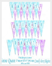 Frozen Sample Birthday Banner Template Download