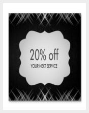 Chalkboard Swirl Coupon Card Voucher Example Template