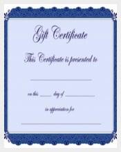 Babysitting Gift Certificate Voucher Format