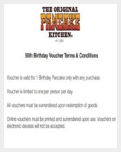 Sample Birthday Voucher Terms Conditions Download