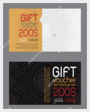 Sample Blank Gift Voucher Template