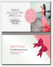 Multi Use Business Gift Voucher Format Template