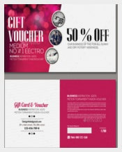 Sample Multi Use Business Gift Voucher