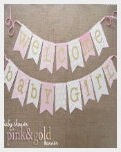 Pink Baby Shower Banner Sample Template Download
