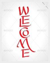 Brush Sample Welcome Banner Template Download