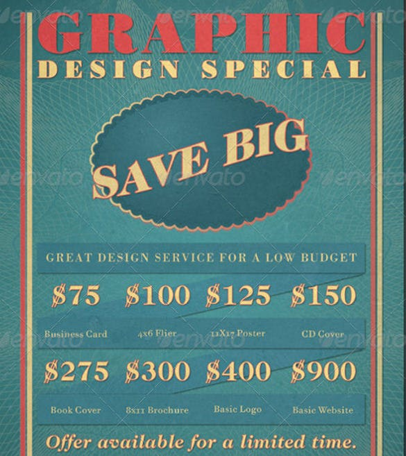 graphic design retro style sales flyer1