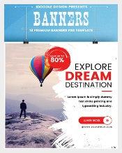 Travel Banner Ad Sample Template Download