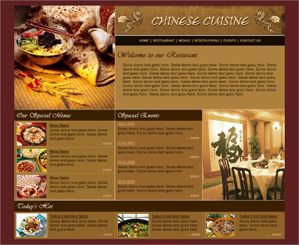 chinese cuisine free css website template