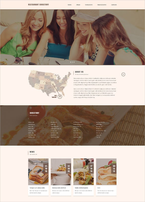 cafe restaurant responsive website template