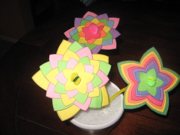 printable construction paper flower crafts