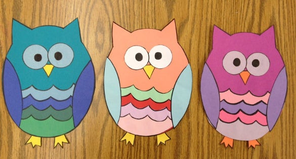 owl paper construction idea download