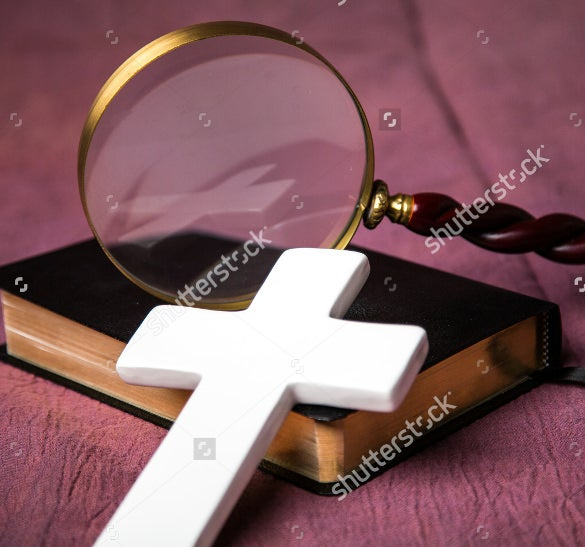 professional cross christian bookmark tempalte