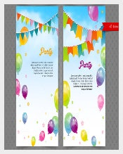 Ballons Party Sample Banner Template Download