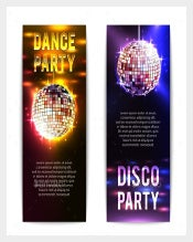 Disco Sample Party Banner Template Download