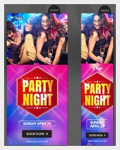 Night Club Party Sample Banner Template Download