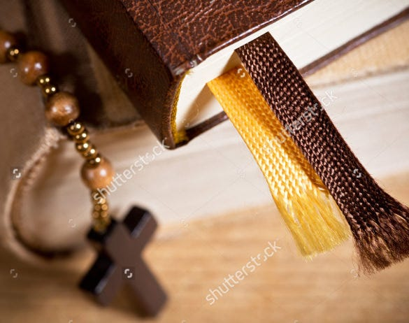 wooden cross christian bookmark template download