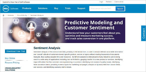 statsoft sentiment analysis software download