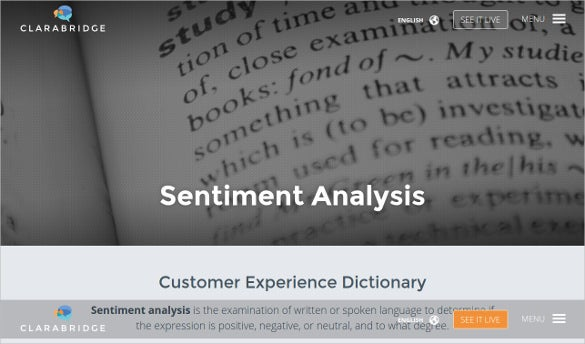 clarabridge dictionary sentiment analysis tool