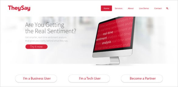 they say sentiment analysis tool