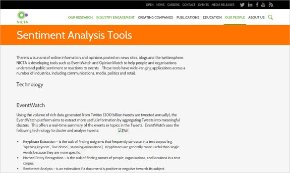 nicta sentiment analysis tool download