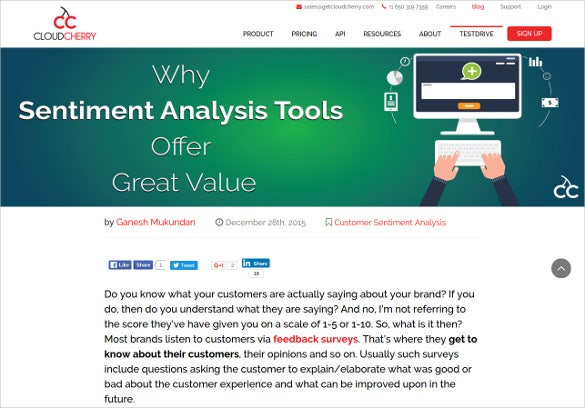 get cloud cherry sentiment analysis tool
