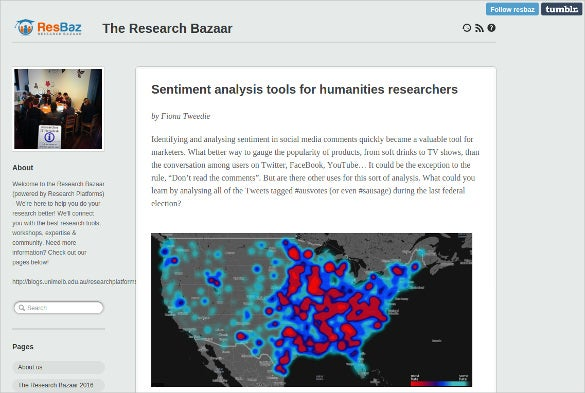 the research bazaar sentiment analysis tools for humanities researchers