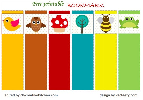 14 free bookmark templates psd vector eps free for Book marker template