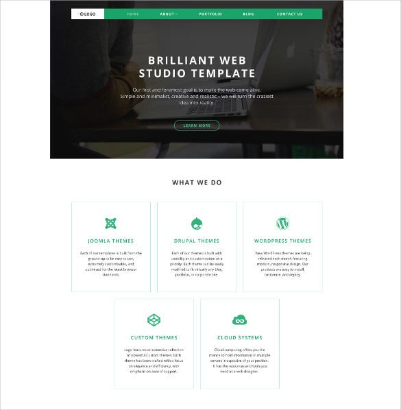 web design portfolio wordpress template