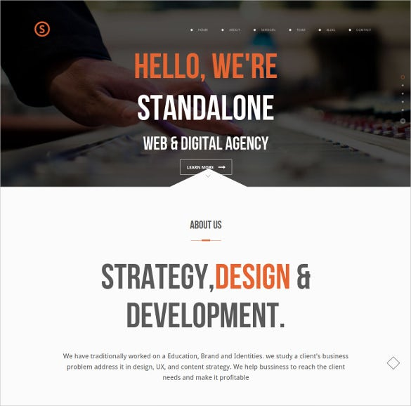 creative portfolio corporate wordpress theme