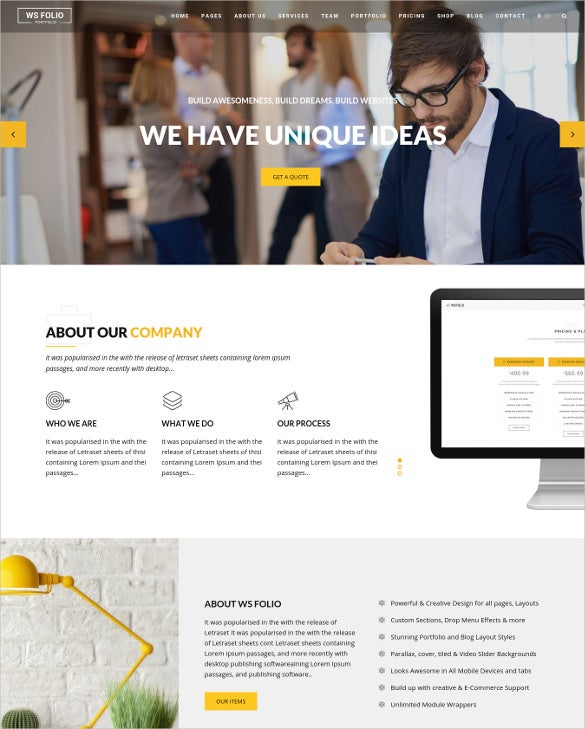 responsive corporate agency portfolio wordpress theme