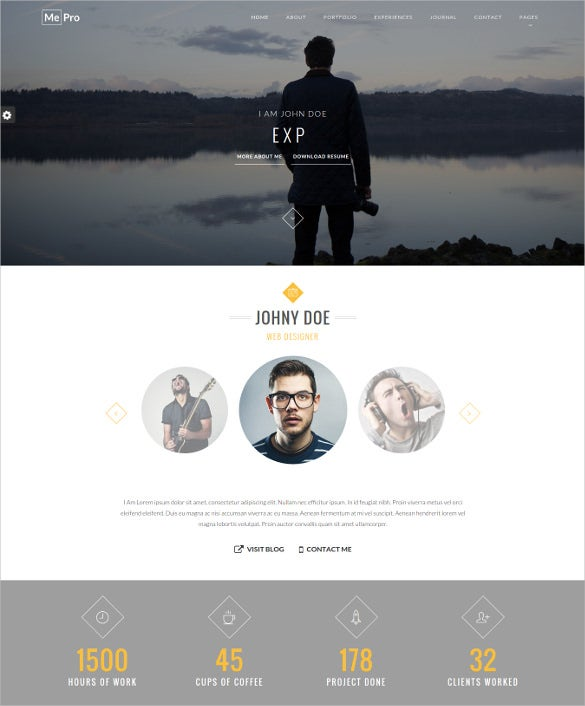 creative personal portfolio wordpress theme