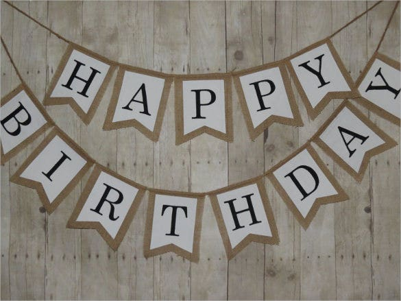 birthday pennant banner template