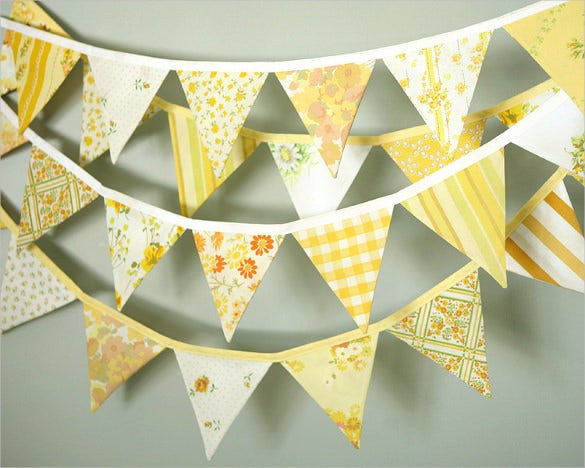 sunshine pennant banner template