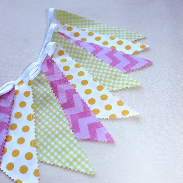 fabric pennant banner template