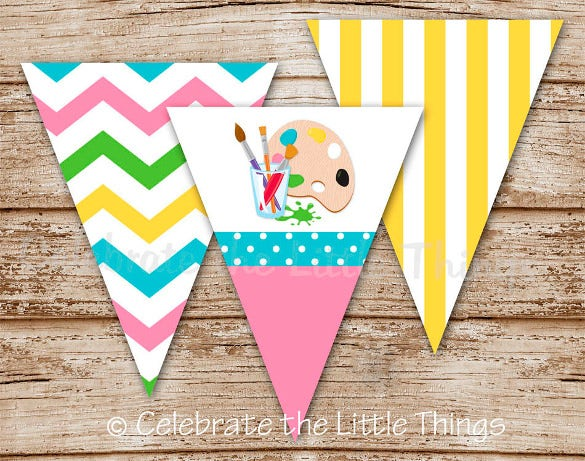 kids pennant banner template