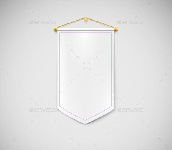 white pennant banner template