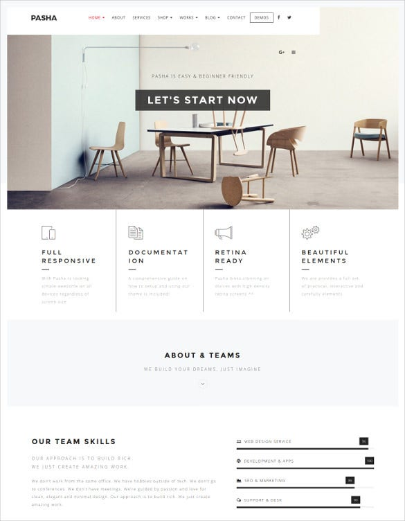 minimal creative multi purpose photography wordpress theme